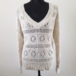 B2G1 Wet Seal Oatmeal/Rainbow Speckled Sweater